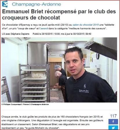 Emmanuel Briet récompensé par le club des croqueurs de chocolat_415x450
